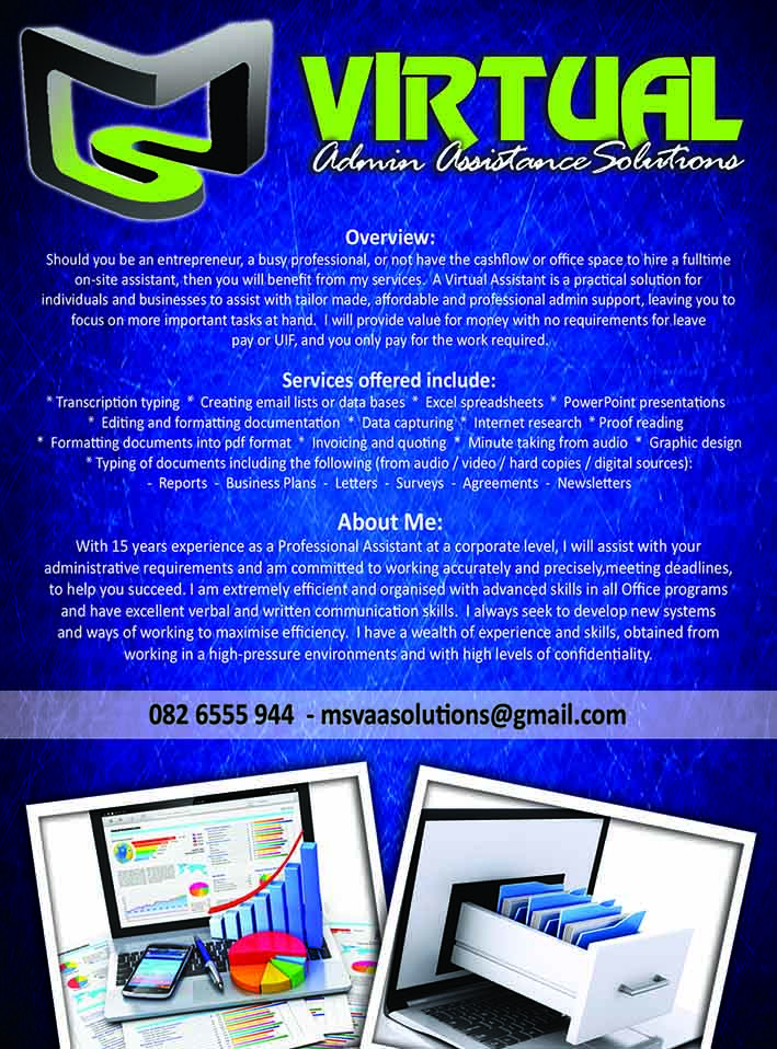MS Virtual Admin Assistant Solutions, Free Online Business Directory